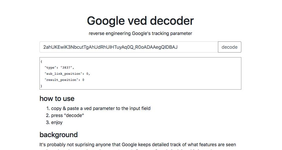 Google ved decoder